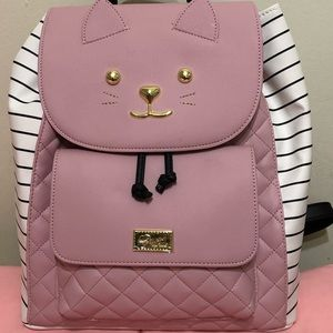 Luv Betsey Johnson Pink Cat Backpack NWT